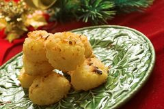 Coconut macaroon cookies Royalty Free Stock Photo