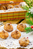 Coconut macaroon cookies Royalty Free Stock Images