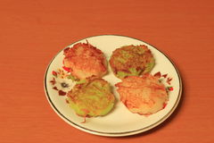 Coconut macaroon on the white dish Royalty Free Stock Images