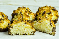 Coconut Macaroons with chocolate Stock Photography