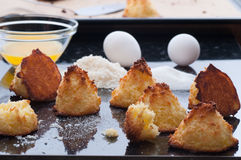 Coconut Macaroons. Homemade gluten free coconut macaroons Stock Photography