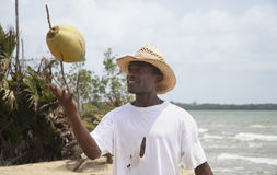 Coconut man Stock Image
