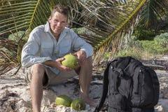 Coconut man royalty free stock photos