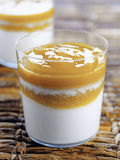 Coconut and mango blancmange Royalty Free Stock Photography