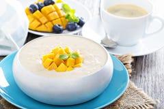 Coconut mango rice pudding Stock Photos