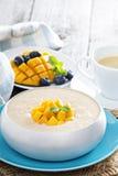 Coconut mango rice pudding Royalty Free Stock Photos