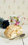 Coconut meringue swiss roll Royalty Free Stock Photography