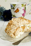 Coconut meringue swiss roll Stock Image