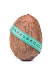 Coconut and meter Royalty Free Stock Image