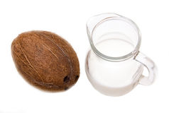 Coconut milk from above Stock Photography