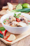 Coconut milk with chicken. Traditional thai soup Tom Kha Gai Royalty Free Stock Photos