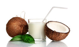 Coconut milk and coconut Royalty Free Stock Images