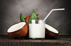 Coconut milk and coconut Stock Photography
