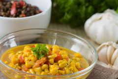 Coconut milk Corn Curry Stock Photo
