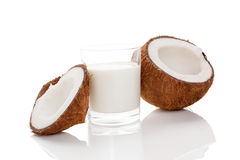 Coconut milk. Royalty Free Stock Photo