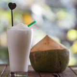 Coconut milk ice smoothie Stock Image