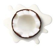 Coconut milk isolated royalty free stock photo