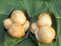 Coconut milk mix sugar and flour. - Kind of Thai sweetmeat Stock Photos