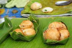 Coconut milk mix sugar and flour. - Kind of Thai sweetmeat Stock Photography