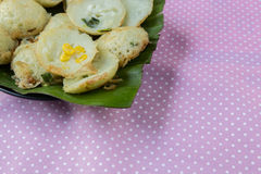 Coconut milk mix sugar and flour. - Thai sweetmeat Stock Photography