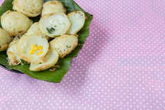 Coconut milk mix sugar and flour. Thai sweetmeat Stock Photo