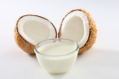 Coconut milk. Is often a staple for cooking Stock Photo
