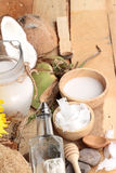 Coconut and milk , oil coco for organic healthy food and beauty stock photo