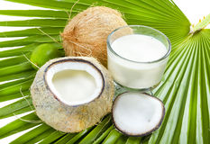 Coconut milk. Royalty Free Stock Images