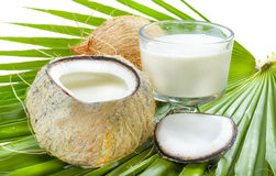 Coconut milk. Royalty Free Stock Photo