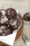 Coconut milk rice truffles Stock Photography