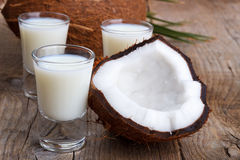 Coconut milk and shells Royalty Free Stock Photography