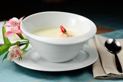 Coconut milk soup Royalty Free Stock Image