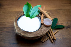 Coconut milk in spa Stock Photos