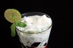 Coconut mix ice cream. Photograph of coconut mix ice cream Stock Photography