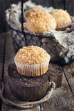 Coconut muffins Royalty Free Stock Images