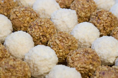 Coconut and nut candy Royalty Free Stock Photo