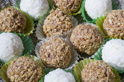 Coconut and nut candy Stock Photo