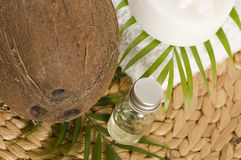 Coconut oil for alternative therapy Royalty Free Stock Photography