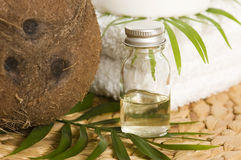 Coconut oil for alternative therapy stock photo