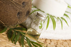 Coconut oil for alternative therapy Stock Photography