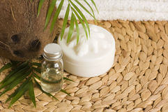 Coconut oil for alternative therapy Royalty Free Stock Images