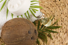 Coconut oil for alternative therapy Stock Images