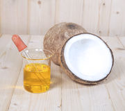 Coconut oil for alternative Royalty Free Stock Photos