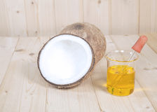 Coconut oil for alternative Stock Photography