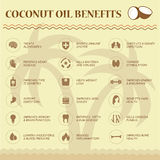 Coconut oil benefits Royalty Free Stock Photo