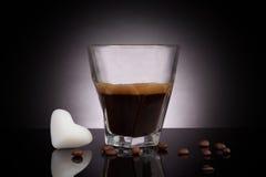 Coconut oil coffee. Stock Image