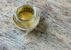 Coconut oil, essential oil, organic cosmetic Stock Photo