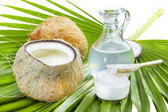Coconut oil. Stock Photos