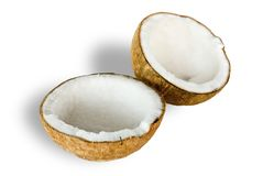 Coconut for oil preparing Royalty Free Stock Photo