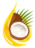 Coconut oil. Stylized drop. Stock Image